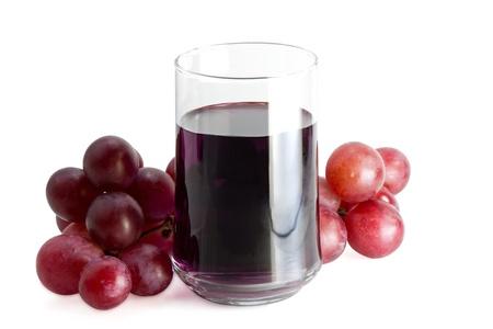 grape juice: glass of grape juice