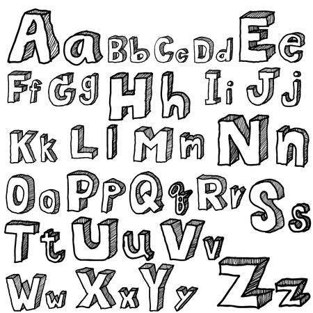 フォント手書きベクトル