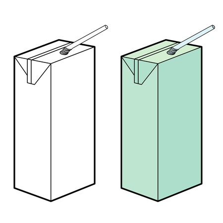 milk box vector Vector