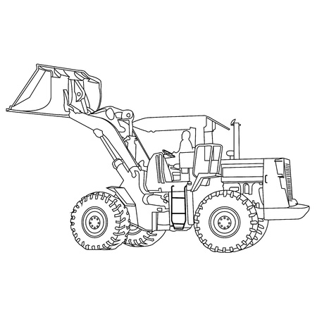 Back Hoe outlineVector Stock Vector - 22152390