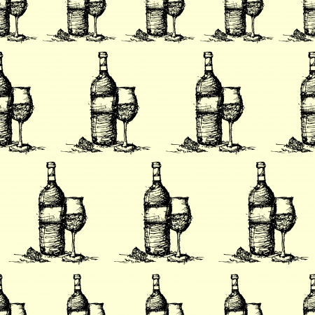 seamless wine pattern