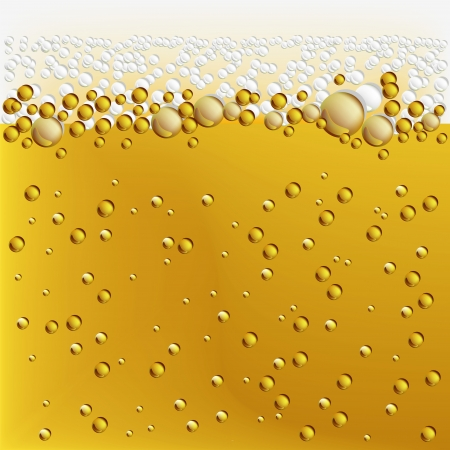 condensation on glass: Beer background Vector