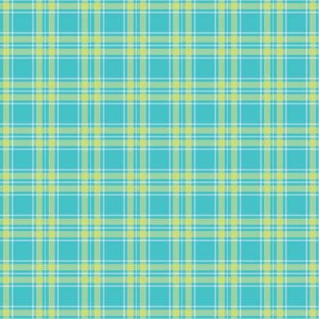 Seamless Green tartan pattern vector Vector