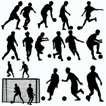futsal players silhouettes
