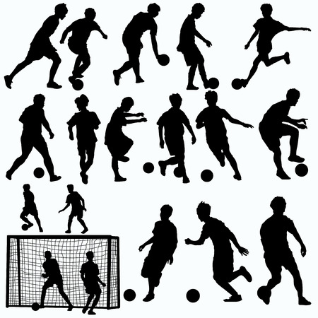futsal players silhouettes