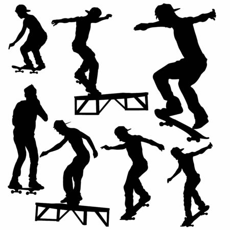 extremal:  Skateboard Silhouette Vector