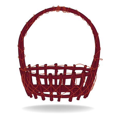 Wicker Basket Vector Vector