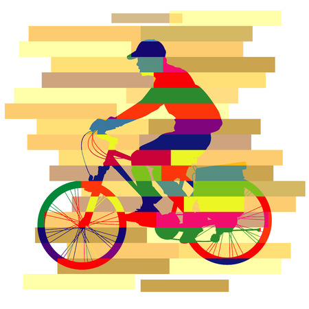 colorful of ride Bicycle Vector Vector