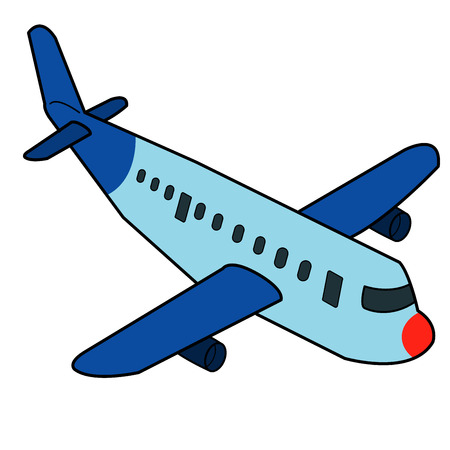 Airplane cartoon vector Vector