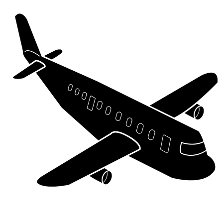 Airplane cartoon Silhouette vector Vector