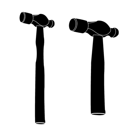 hammer  Silhouetted vector Stock Vector - 23856797