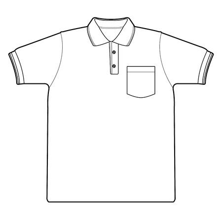 ポロシャツ アウトライン ベクトル