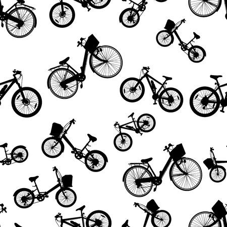 bike vector: seamless bicicleta Vectores