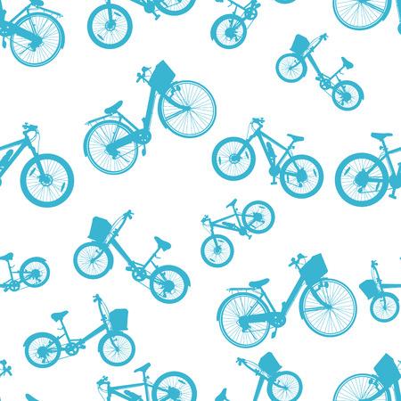 bike vector: sin fisuras vector azul bici bicicleta Vectores