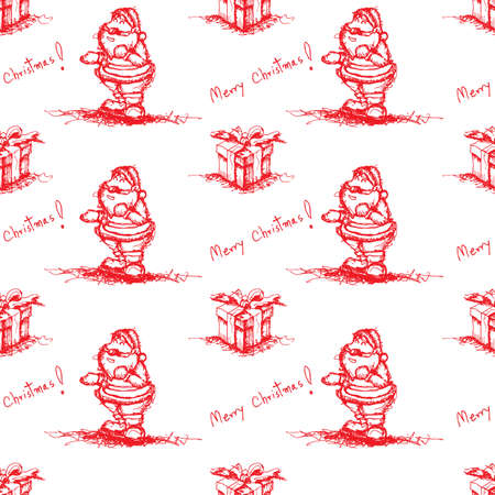 red seamless santa claus Vector