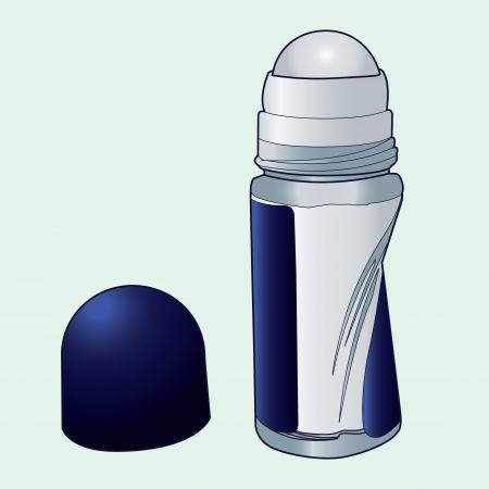 perspiration: deodorant roll-on applicator vector