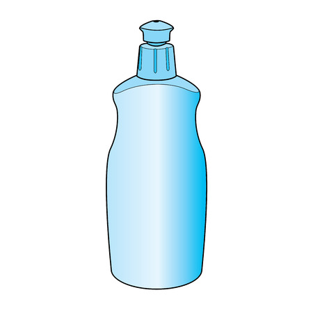 dishwashing: lavavajillas vector botella de l�quido