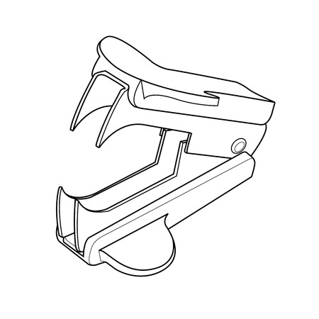 staple removers out line vector Illustration