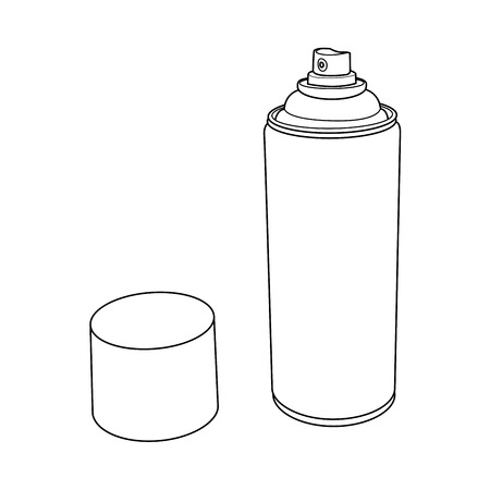 aerosol can: Spray Paint Can outline  Illustration