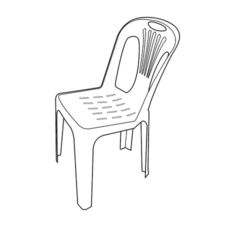 tacky: plastic chair outline  Illustration