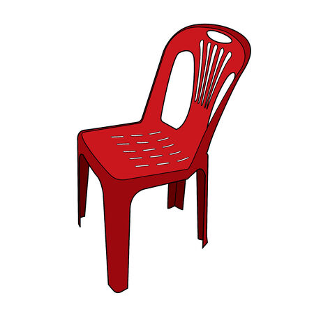 tacky: plastic chair