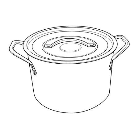 Pot outline Stock Vector - 25641866