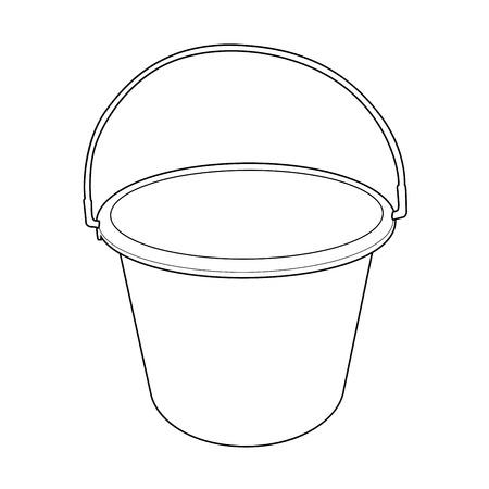 bucket water: contorno cubo de agua