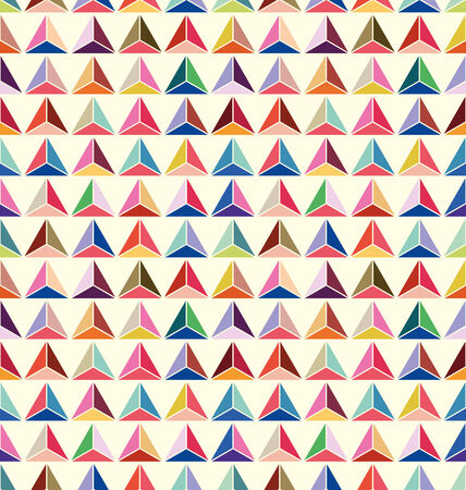 seamless of pastel triangle background vector Vector