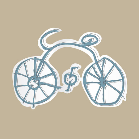 portage: bicycle vector Illustration