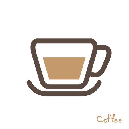 coffee symbol vector Vector