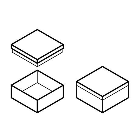 box outline Stock Vector - 28399934