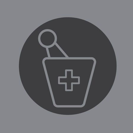 infirmary: pharmacy symbol vector