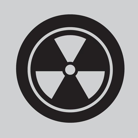 radium: Radiation Symbol icon Vector