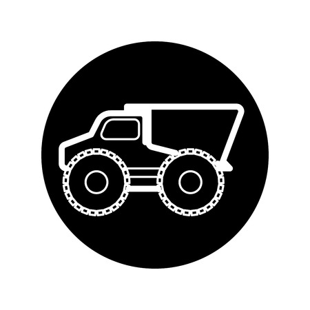 dumptruck: Dump truck Icons vector