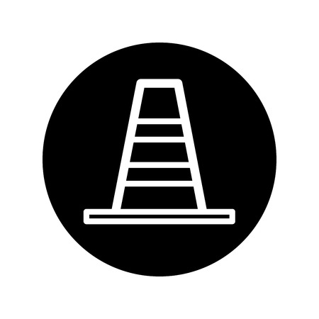 road works ahead: Traffic cone icon vector