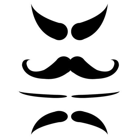 chaplin: mustache isolate vector