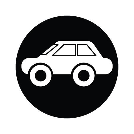 car symbol icon vector Vector