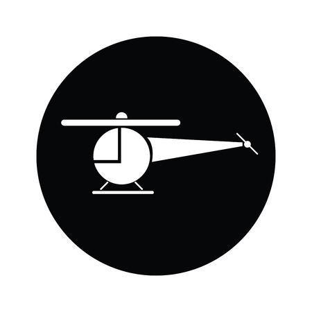 Helicopter  symbol icon vector Vector