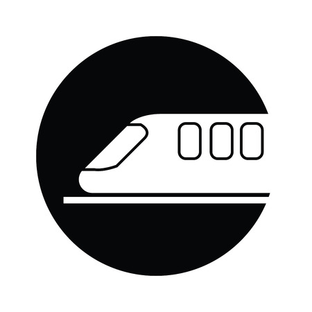 high speed railway: train  symbol icon vector