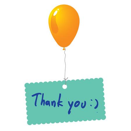 thank you card:  Thank you card vector