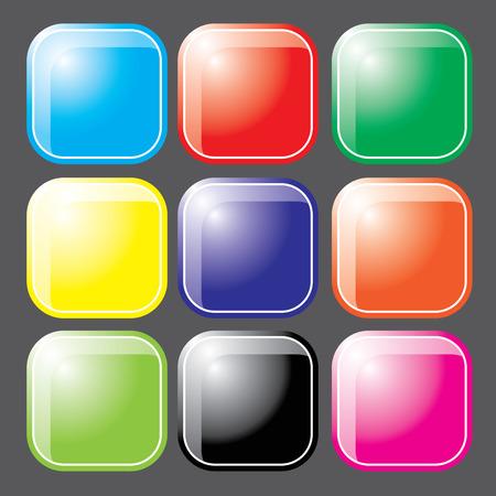 Glossy  Button vector Vector