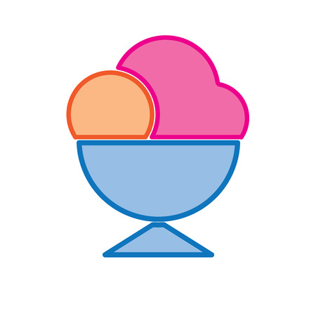 ice cream cup: ice cream cup colored vector