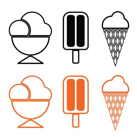 ice cream set vector Vector