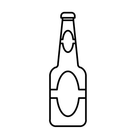 beer bottle  outline vector Illustration
