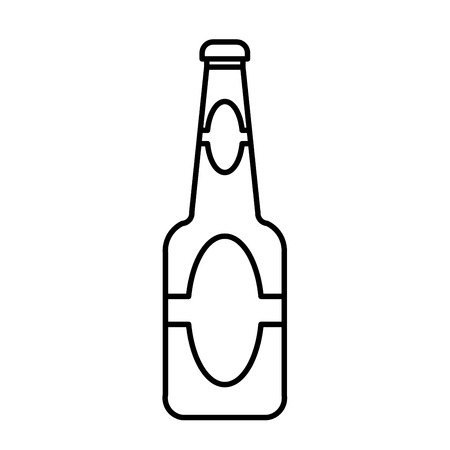beer bottle  outline vector Illustration
