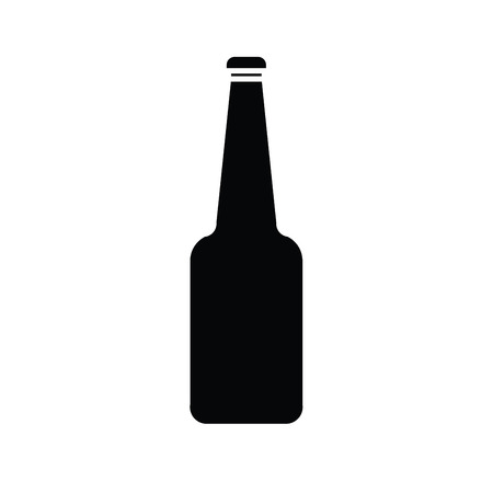 silhouette of glass bottle vector Vector