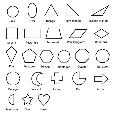 geometric shapes vector Illustration