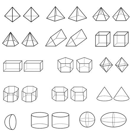 3d geometric shapes vector 免版税图像 - 36248371