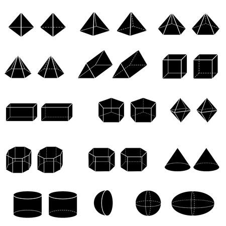 kid vector: silueta de 3d geom�trica para ni�o vector