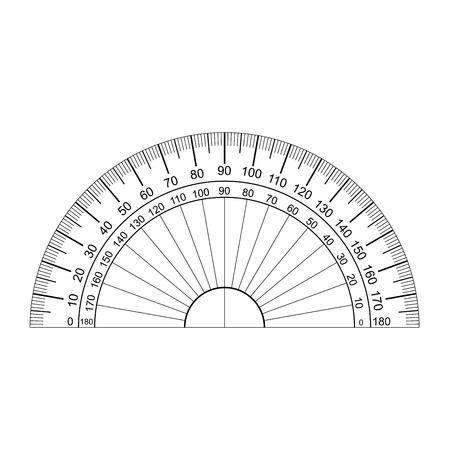 protractor vector  イラスト・ベクター素材